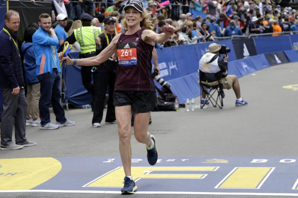 First woman to run Boston Marathon does it again 50 years later