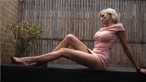 Super-tall ex-model Caroline Arthur bids for the world's longest legs