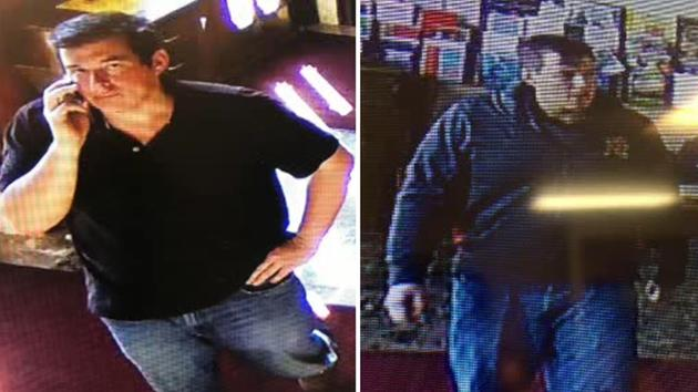 Police look for a man  who stole money from a church donation box