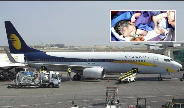 Jet Airways gifted a baby boy born on a flight with free flights for life