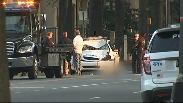 Pedestrian was killed by a on duty police officer in uptown Charlotte