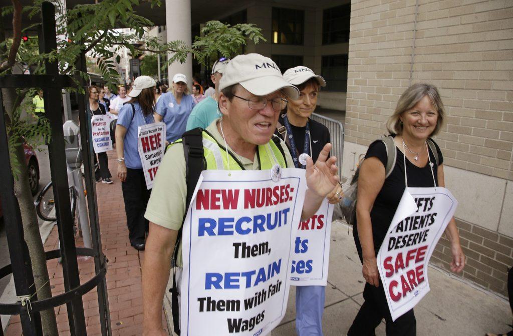 More than 1,200 nurses at Boston hospital start strike
