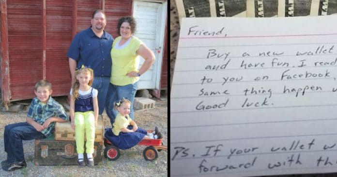 Mom Thinks Stranger Found Son's Wallet, But When She Reads The Note She Bursts Into Tears