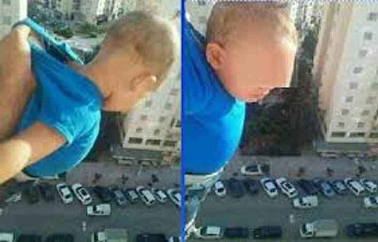 Man threatens to drop child from 15th-floor window unless he gets 1,000 Facebook likes