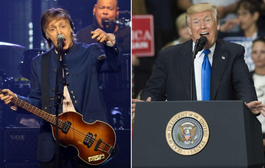 Paul McCartney has written a song about Trump