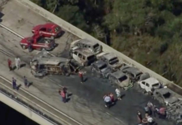 Horrific 36-vehicle pile-up leaves two dead in Brazil