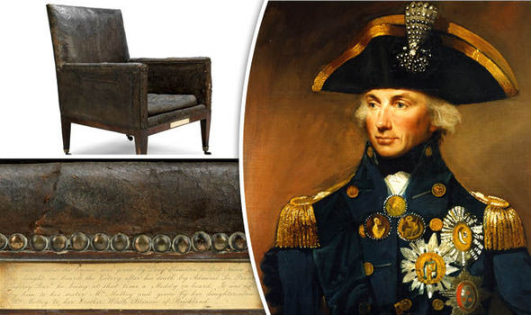 Lord Nelson's leather armchair from HMS Victory is for sale for £50,000