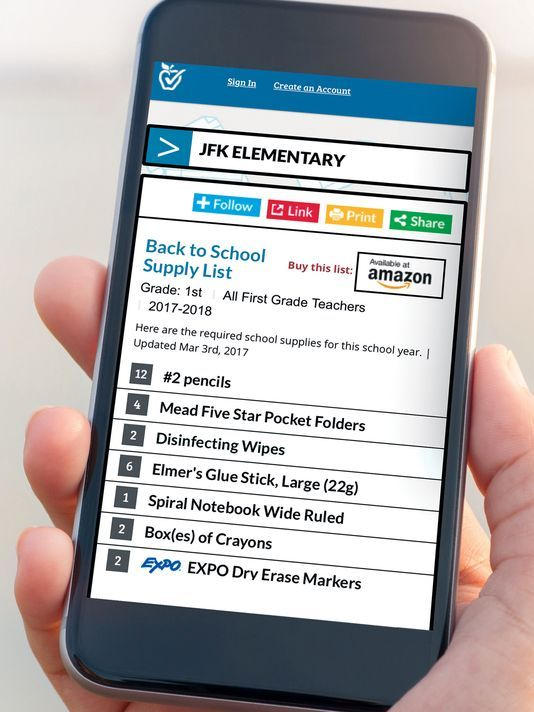 TeacherLists is a 5-minute online tool for easier school supply shopping