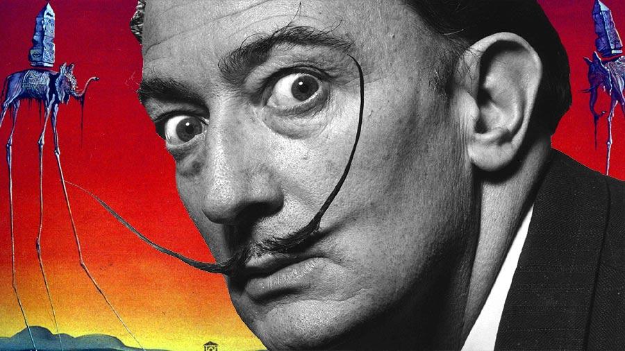 How did Salvador Dalí's mustache survive his death?