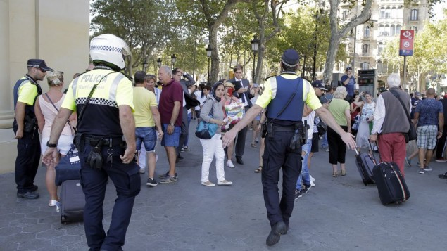 Barcelona terror attack: Van crashes into pedestrians in city center