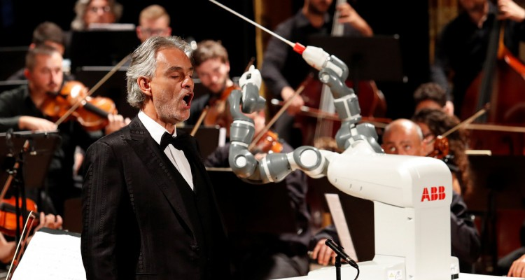 WATCH: Robot conducts Andrea Bocelli and Italian orchestra in a world first