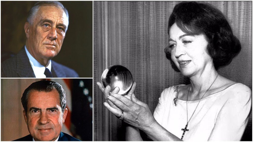 The predictions of famous psychic Jeane Dixon, who met with both Roosevelt and Nixon