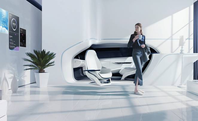 The car of the future will be part of your living room