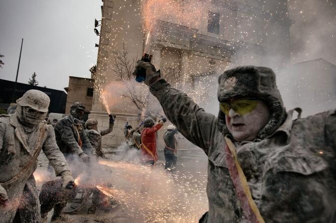 This small town explodes with the weapons of war — flour, eggs, and firecrackers