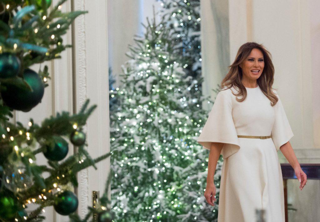 Melania Trump Decorates the White House for Christmas