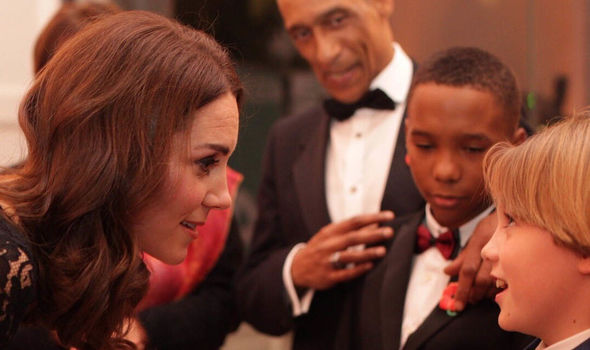 Duchess of Cambridge shows off growing baby bump at charity gala dinner
