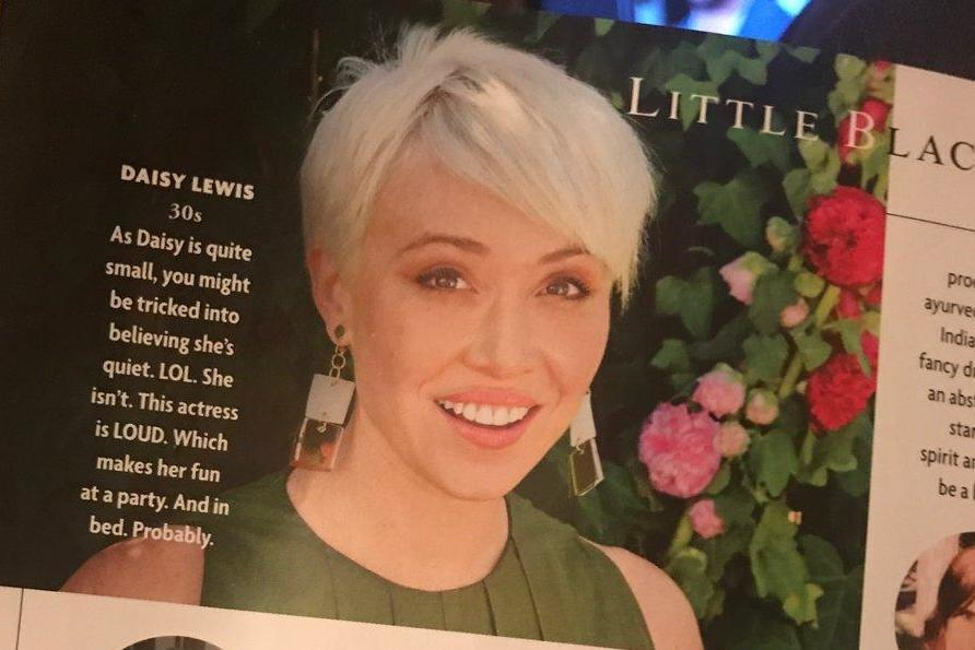 """Tatler apologies to Downton Abbey star Daisy Lewis after describing her as """"fun… in bed"""""""