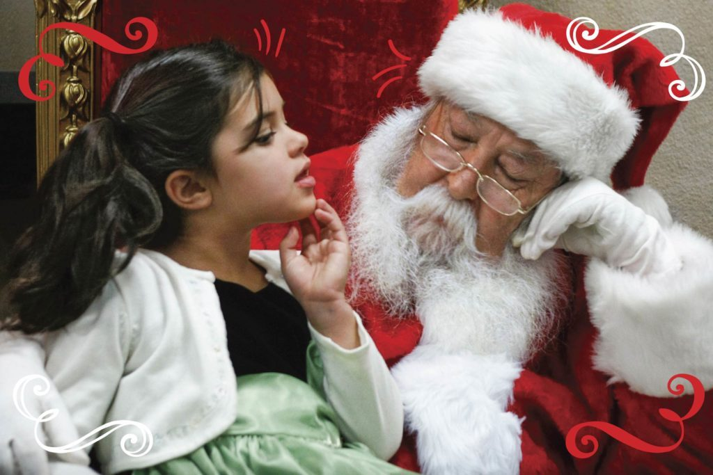 Santa gives a little girl the greatest gift he could — not dolls or games or toys — but the gift of HOPE