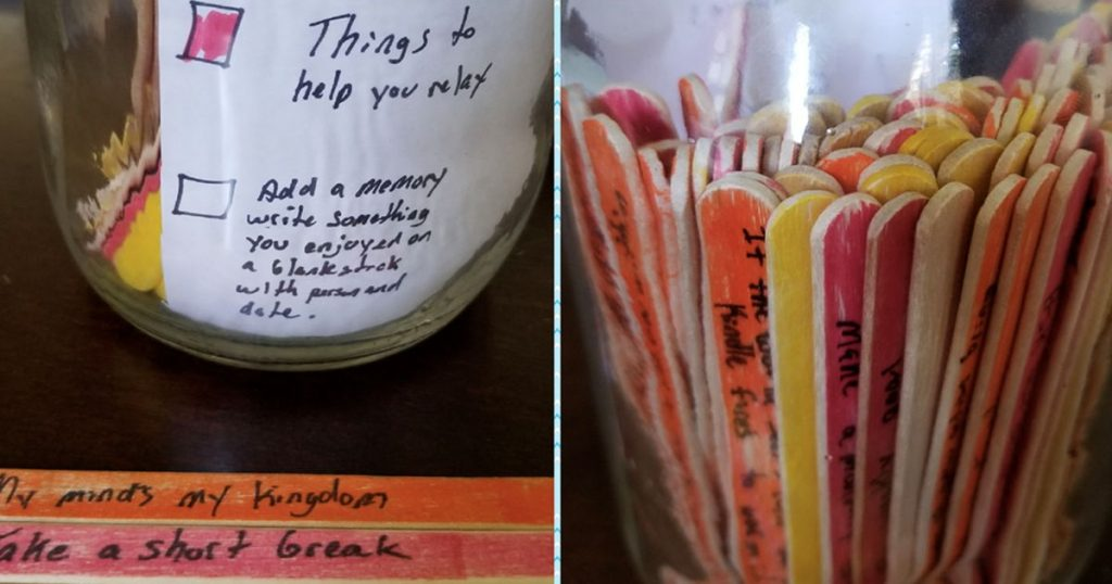 This Guy Handles His Girlfriend's Crippling Depression using popsicle sticks