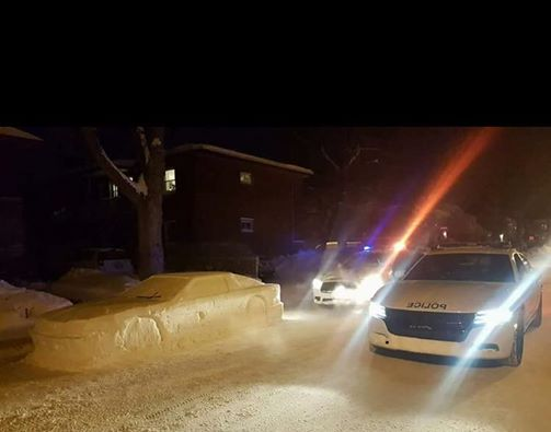 Man fools officers with car made of snow, gets a 'parking ticket'