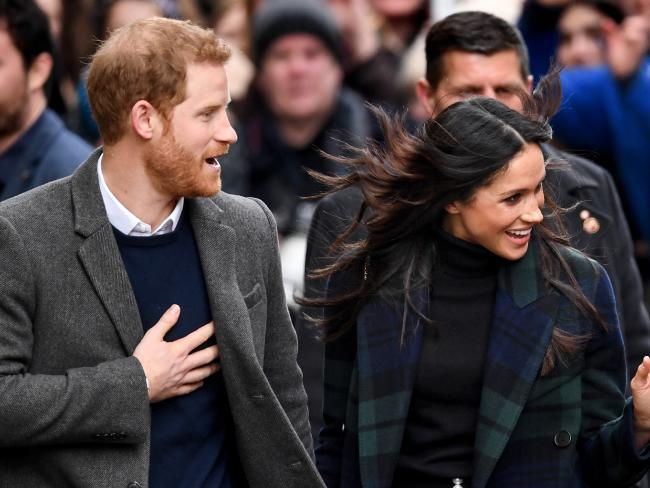 Prince Harry and Meghan Markle given warm welcome in Scotland on one-day tour