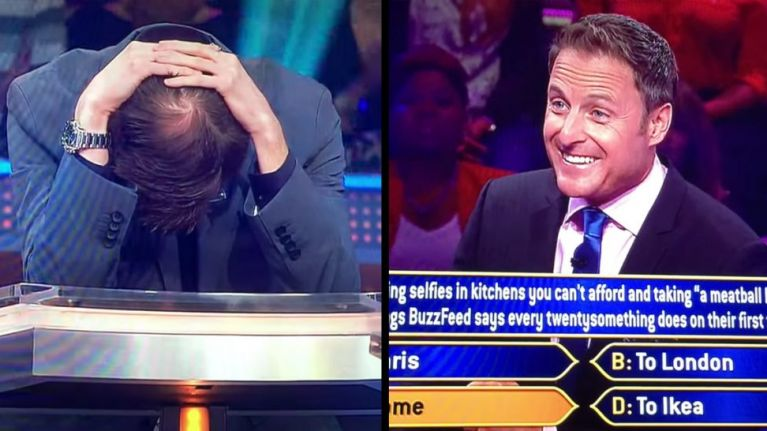 """First question wrong on """"Who wants to be a Millionaire"""""""