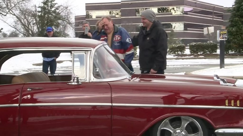 Grandson Surprises Grandpa  by restoring His 50 Year Old Chevy Bel Air
