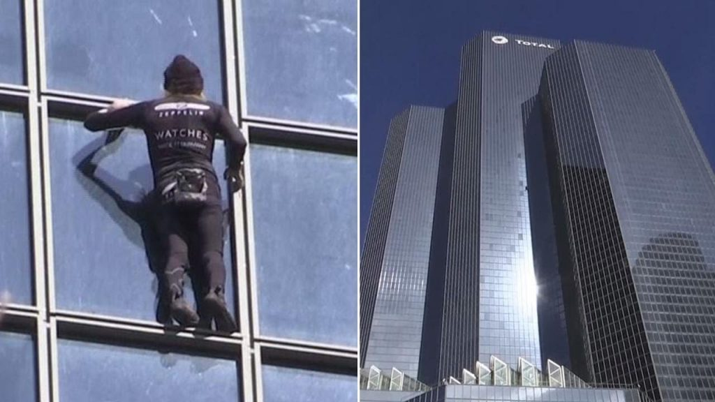 """55-Year-Old """"French Spider-Man""""arrested after climbing 587-Foot Building in 30 Minutes"""