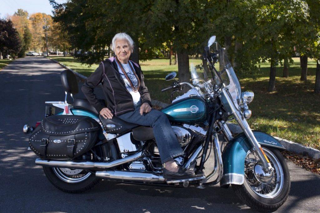 Motorcycle Grandma — 90-year-old and still rides her Harley-Davidson