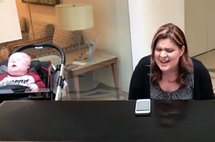 Emotional moment mother sings for her terminally ill son – and it's heartbreakingly beautiful