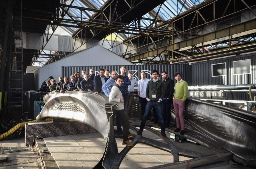 The world's first 3D-printed steel bridge is a real thing