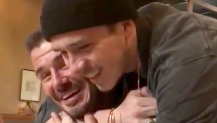 DAVID BECKHAM TEARS UP AFTER SON SURPRISES HIM ON 43RD BIRTHDAY