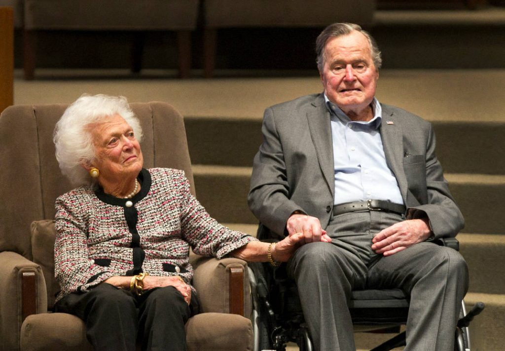 George HW Bush posts touching tribute to his late wife Barbara