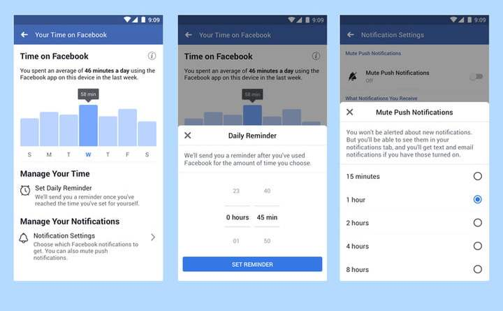 Facebook adds new tools to help people manage their time on Facebook and Instagram