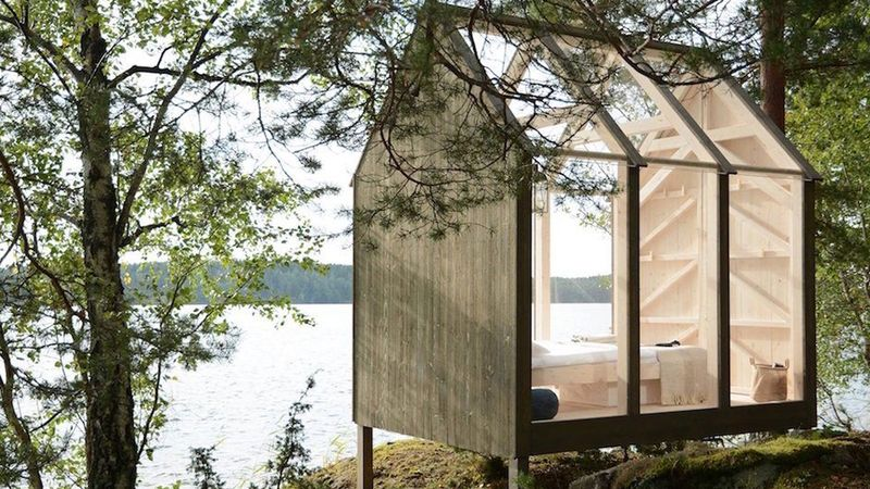 These glass cabins in Sweden designed to reduce stress levels