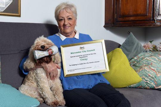 'Litter Picking Dog'  Wins Mayor's Award