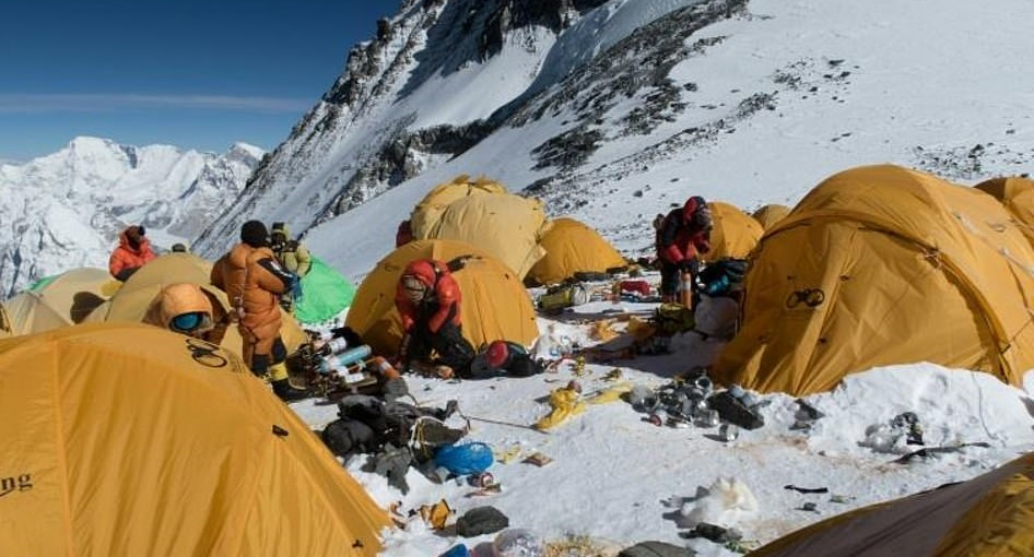 Mount Everest has become the world's highest rubbish dump