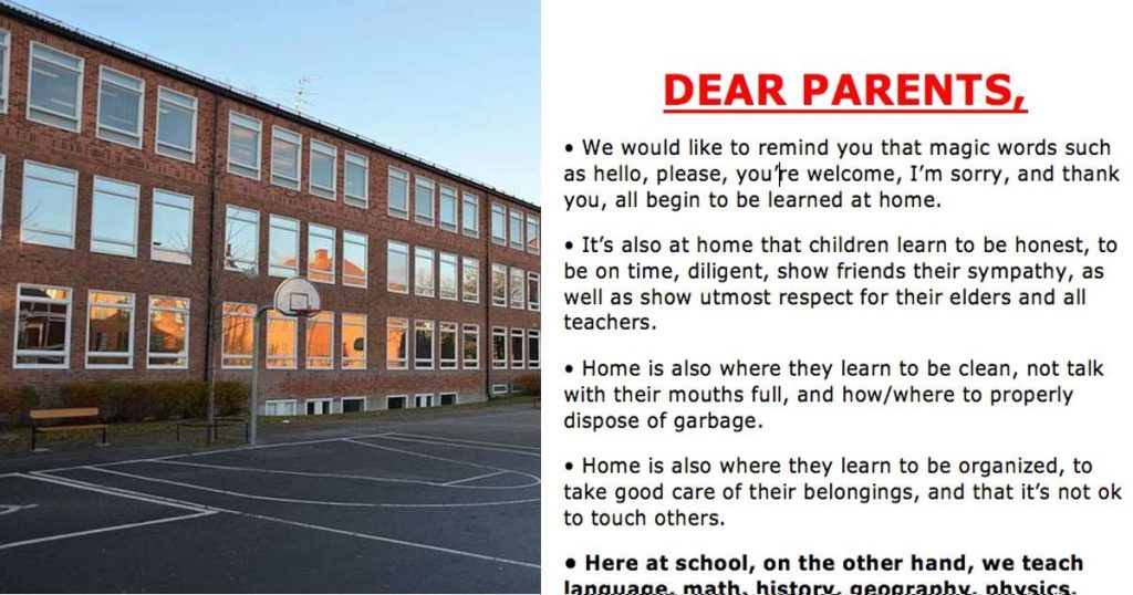 Letter to Parents From Portuguese School Goes Viral