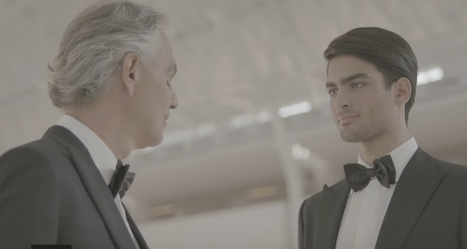 Andrea Bocelli is back after 14 years and even singing with his son!