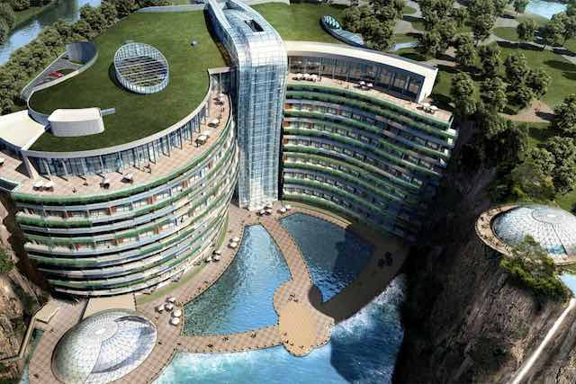 Stunning Hotel Into the Walls of an Abandoned Rock Quarry to Open This October