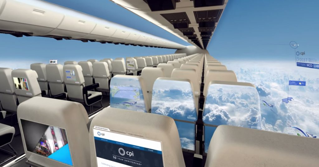 """Windowless Planes"" Will Give Passengers A Panoramic View Of The Sky"