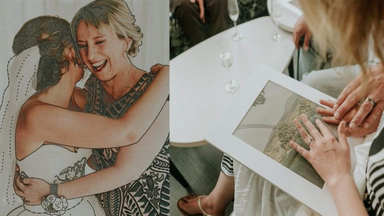 PHOTOGRAPHER CREATES A TACTILE WEDDING PHOTO ALBUM FOR A BLIND BRIDE