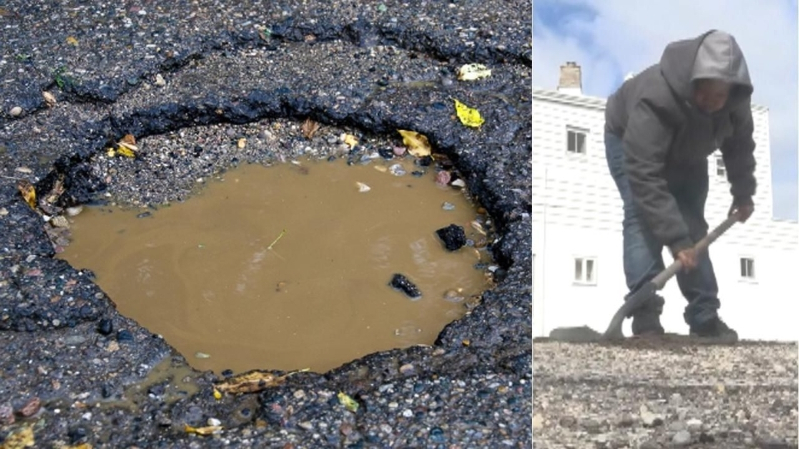Michigan boy is on a mission to solve his town's pothole problem
