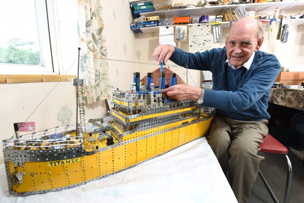 Pensioner Spends Three Years Building a three stone model of the Titanic – using 2,000 individual pieces