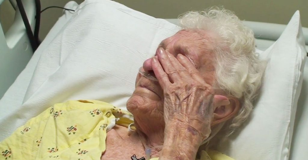 Watch this moving video as male nurse brings tears to the eyes of a sick old woman