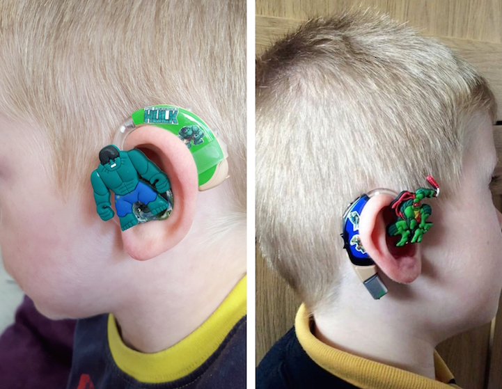 Creative Mom Turns Children's Hearing Aids into Superheroes to Boost Their Confidence