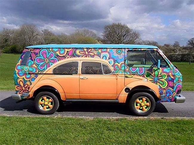 Beetle Painted on VW Volkswagen: Pictures of Gorgeous VW Bus Art Paintings