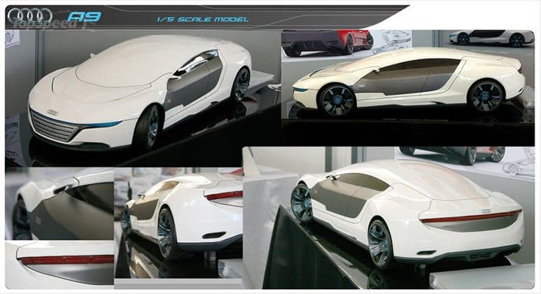 Audi A9 Concept Car repairs itself from damage and automatically changes  color