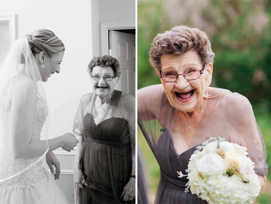 89-Year-Old Grandma Was A Bridesmaid At Her Granddaughter's Wedding