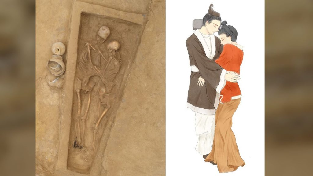 1,500-year-old burial in China holds lovers locked in eternal embrace